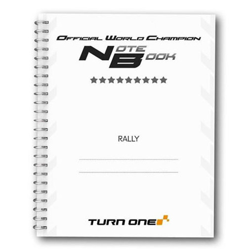 Professional Pacenote Notebook - EARS Motorsports. Official stockists for Turn One-8TONOTEBOOK