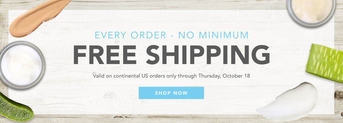 Free standard shipping for all continental US orders through Thursday, October 10