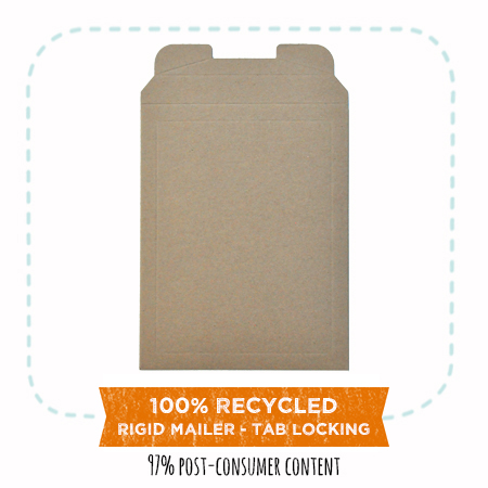 EcoEnclose's 100% recycled rigid mailers - tab locking