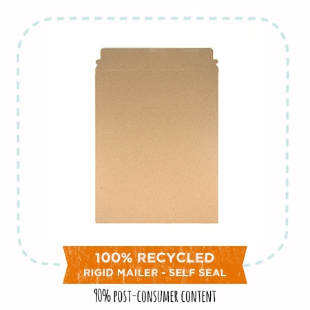 EcoEnclose's 100% recycled rigid mailers - self seal