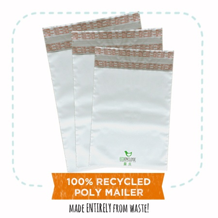 EcoEnclose's 100% recycled poly mailers