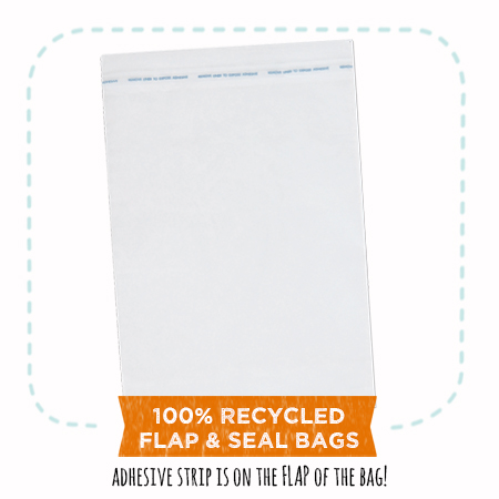 100% recycled clear bags