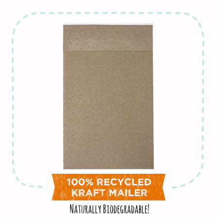"""EcoEnclose's 100% recycled Kraft mailers"