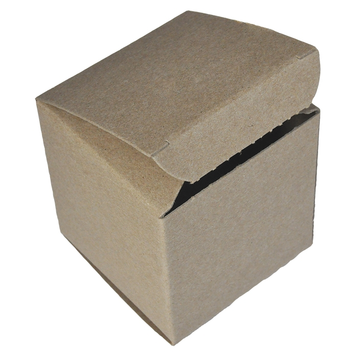 "4 x 4 x 4"" - 100% Recycled Tuck Boxes - Case of 250"