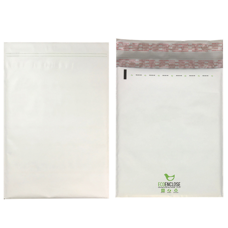 100% recycled poly mailers