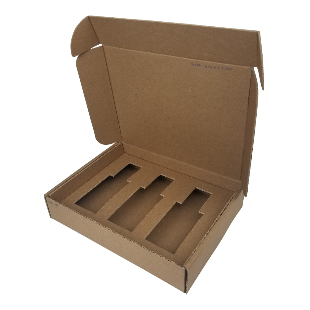 shipping box with inserts