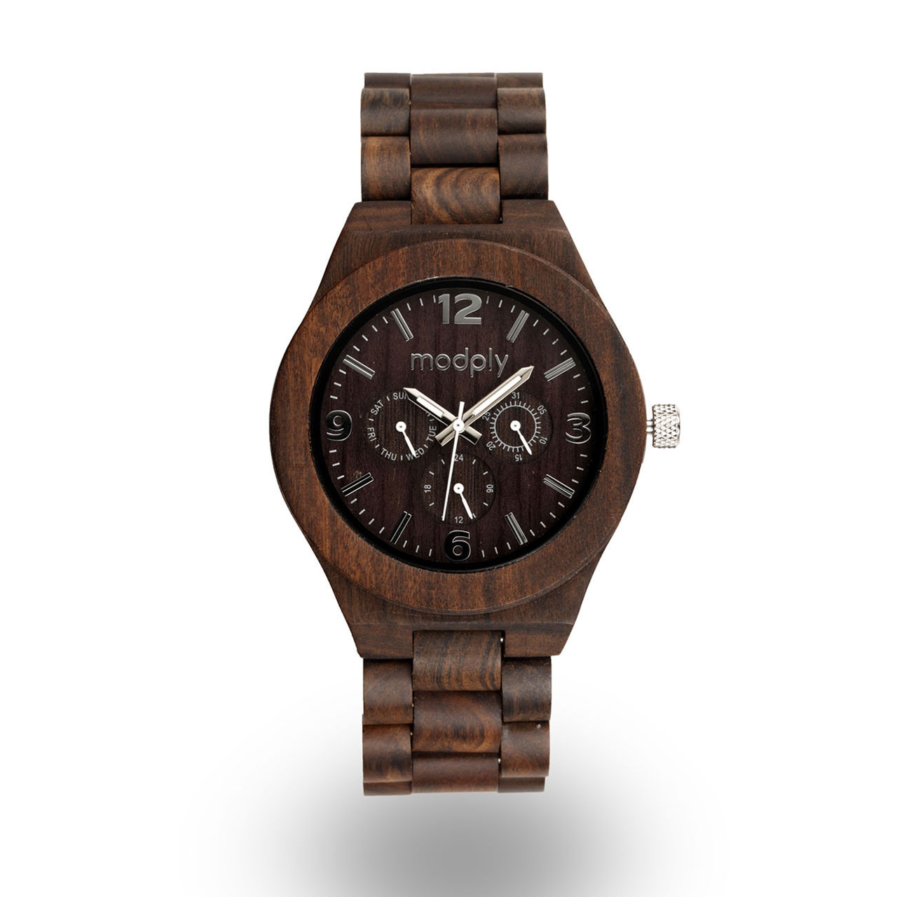 engraved boyfriend watch for mens no engraving woodchronos dark gift products watches sandalwood anniversary wooden