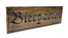 biergarten sign / beergarden sign
