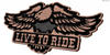live to ride sign