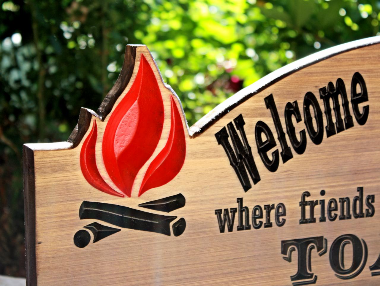 custom  camping sign