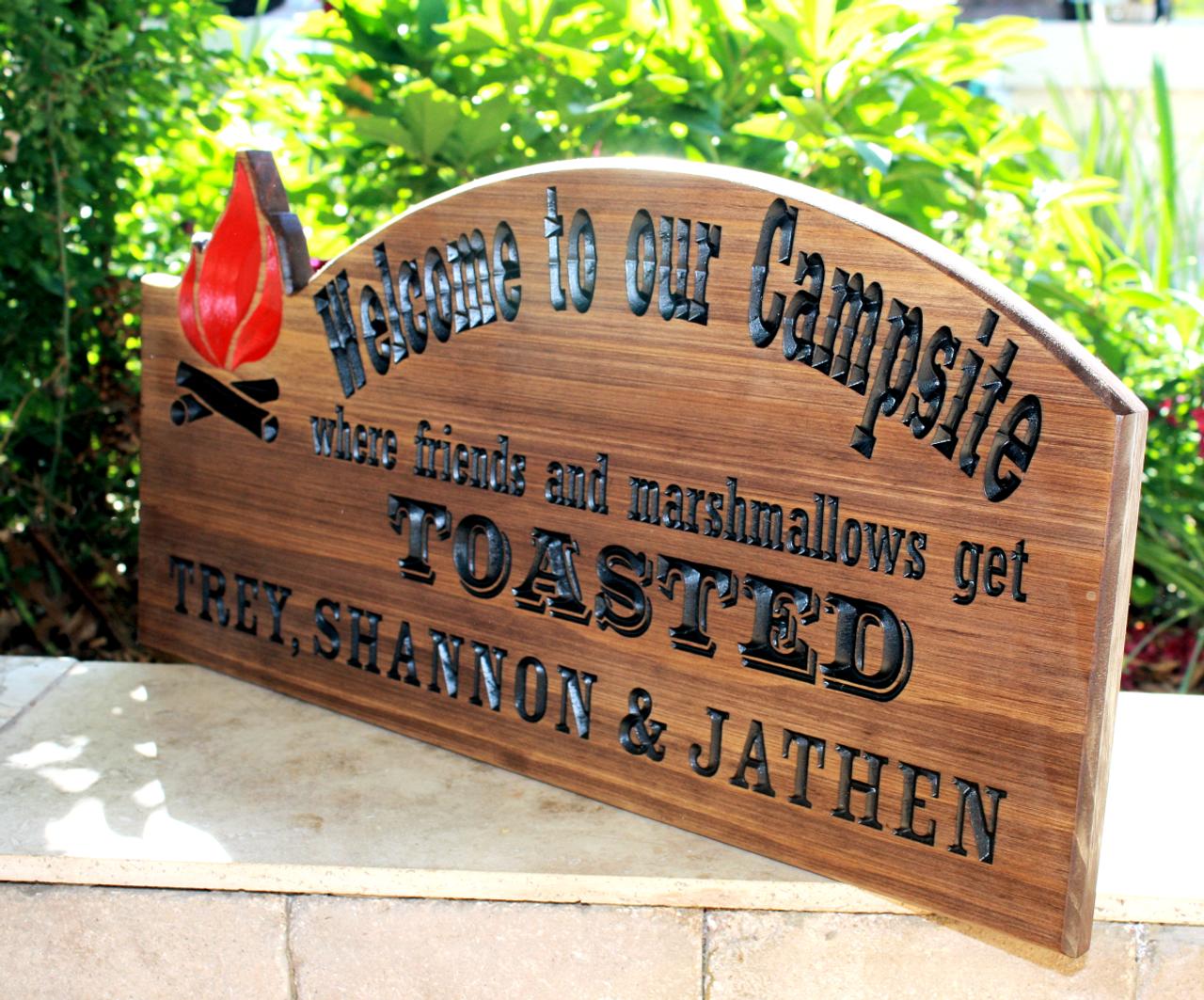 campsite custom sign