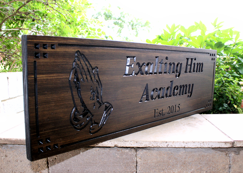 Praying hands plaque sign-Church Sign-Marriage Sign