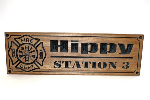 Firefighter memorial plaques, firefighter retirement gift, wooden custom firefighter sign