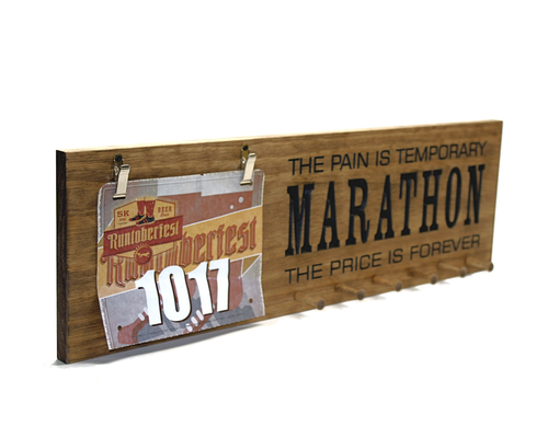 running medals and race bibs holder