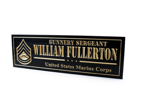 usmc-marines military plaque-us marines wooden sign