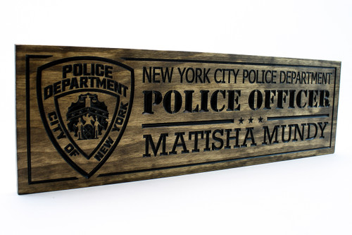 New York City Police officer Plaque