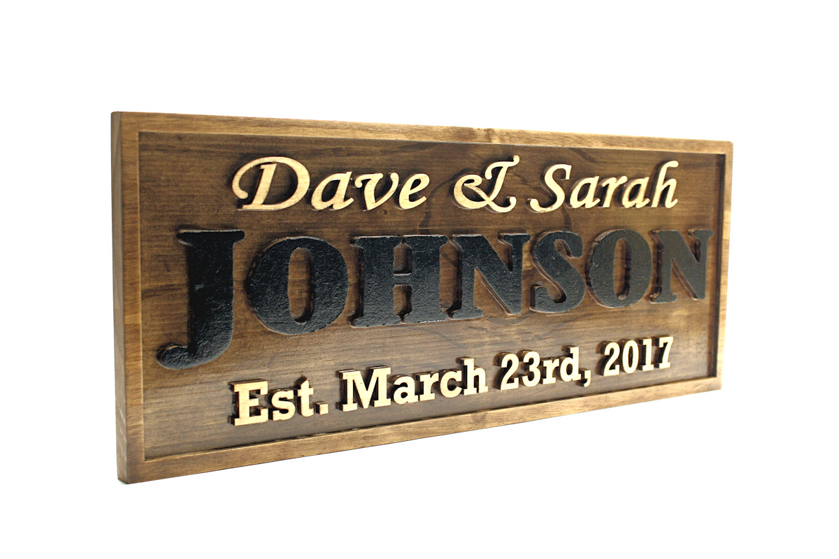 3-D FAMILY NAME SIGN