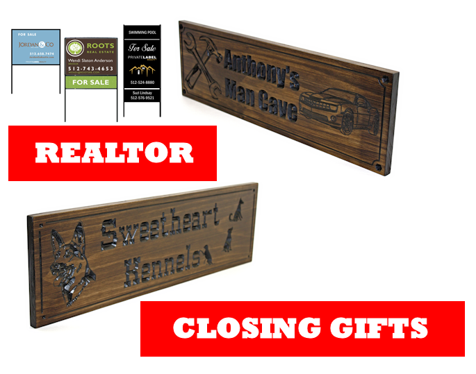 Personalized realtor closing gifts