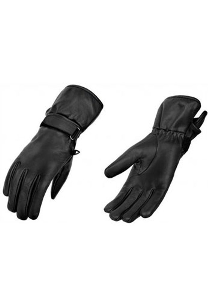 True Element Womens Premium Motorcycle Gauntlet Glove for All Weather Use (Black, Sizes S-2XL)