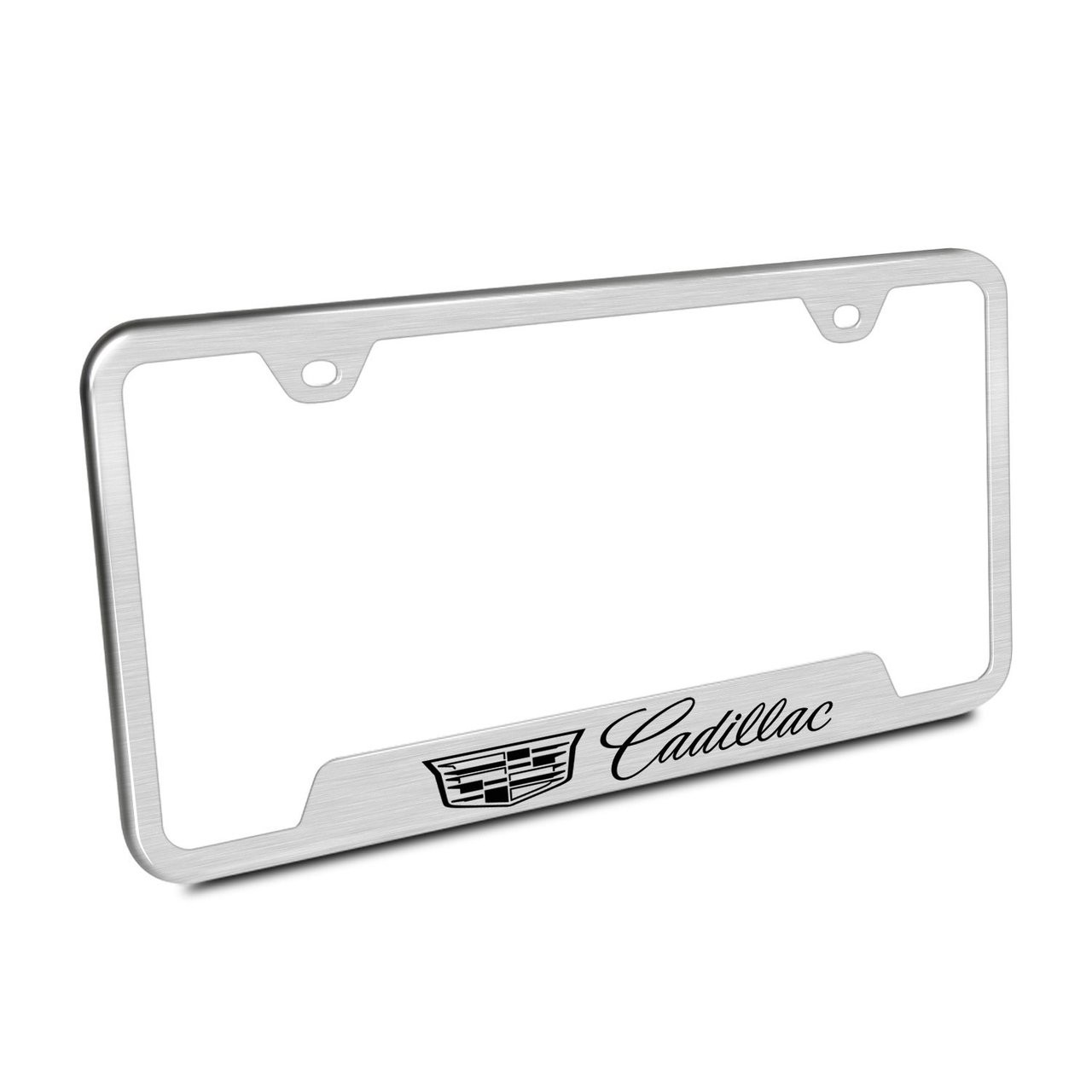 Cadillac Crest Logo Brushed Stainless Steel 50 States License Plate ...