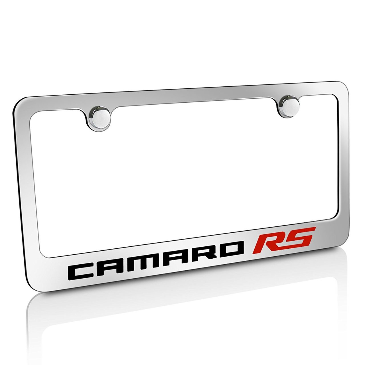 Chevy Camaro RS 2010 Chrome Brass License Plate Frame - Car Beyond Store