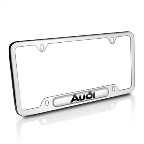 Audi Mirror Chrome Stainless Steel License Plate Frame - Car Beyond ...