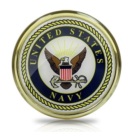 United States Navy Seal Color Metal Auto Emblem Official Licensed