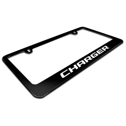 Dodge Charger Black Metal License Plate Frame - Car Beyond Store