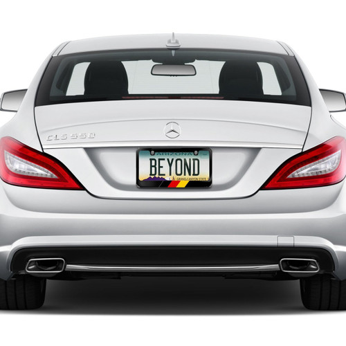 German Flag In Sports Stripe Black Metal License Plate Frame