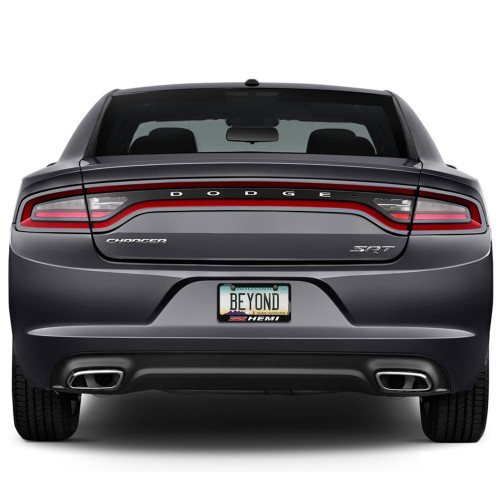 392 HEMI Black Metal License Plate Frame for Challenger, Charger ...