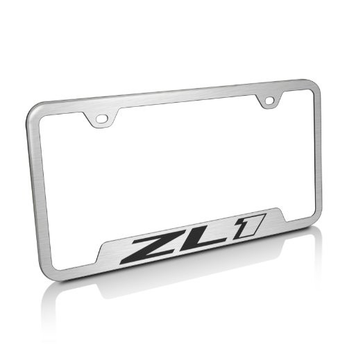 Chevrolet Camaro ZL1 Brushed Stainless Steel License Plate Frame ...