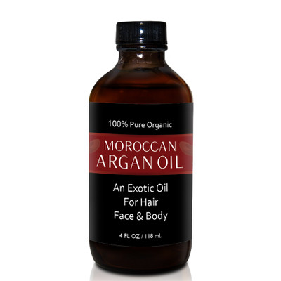 Herbal Tea House 100% Pure Organic MOROCCAN ARGAN OIL 4oz
