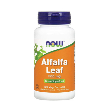 NOW Alfalfa Leaf Green Superfood 500mg 100 Veg Capsules