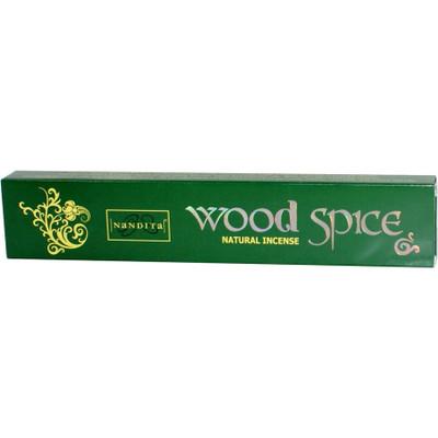Nandita Wood Spice Natural Incense Sticks (12 sticks) (15 Grams)