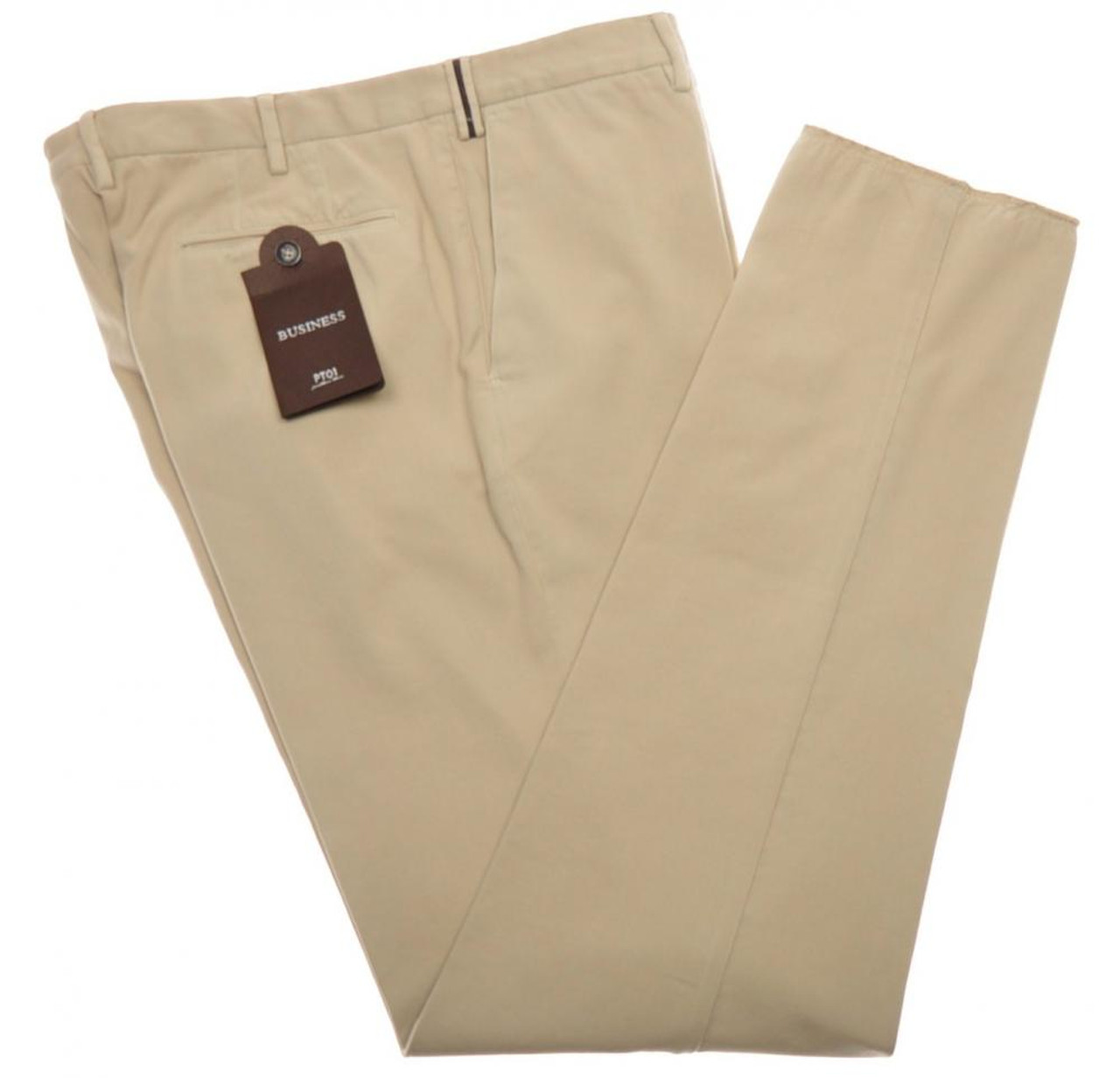 Beige Business trousers Pantaloni Torino