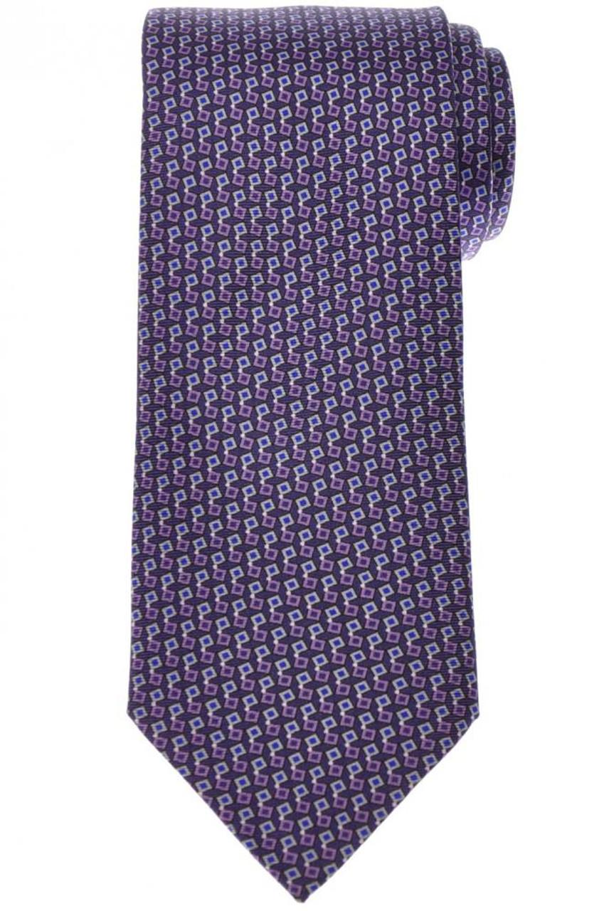 Silk tie blue patterned Barba