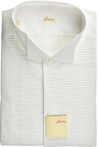 Brioni Formal Tuxedo Dress Shirt Superfine Cotton 17 3/4 45 White 03SH0513