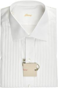 Brioni Formal Tuxedo Dress Shirt Superfine Cotton 16 41 White 03SH0506