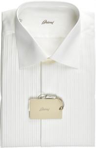 Brioni Formal Tuxedo Dress Shirt Superfine Cotton 17 43 White