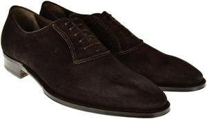 Brioni Dress Shoes Suede Leather 9 US 42 EU Brown 03SO0117