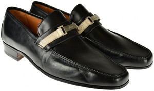 Brioni Dress Shoes Loafers Leather 8.5 US 7.5 UK Black 03SO0125