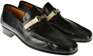 Brioni Dress Shoes Loafers Leather 7.5 US 6.5 UK Black