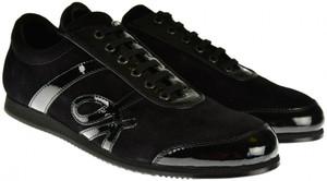 Brioni Dress Shoes Logo Sneakers Leather 10 US 43 EU Black
