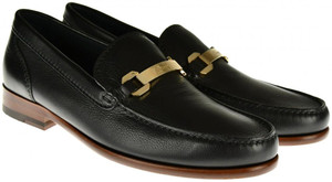 Brioni Dress Shoes Loafers Leather 7 US 6 UK Black 03SO0130