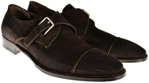 Brioni Dress Shoes Leather Monk-Strap 10 US 43 EU Brown 03SO0145