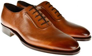 Brioni Dress Shoes Leather 7 US 40 EU Black