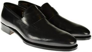 Brioni Dress Shoes Leather Loafers 8 US 41 EU Black