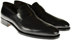 Brioni Dress Shoes Leather Loafers 8 US 41 EU Black 03SO0142