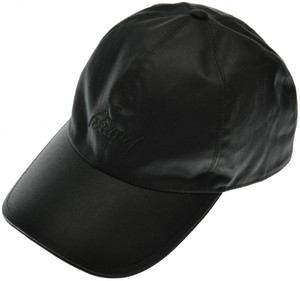 Brioni Baseball Cap Hat Cotton W/ Logo Black 03CP0134