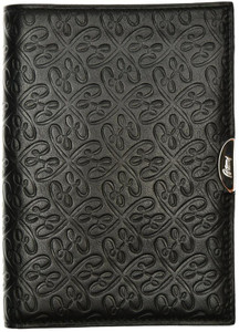Brioni Wallet 6 Card B Logo Leather Black
